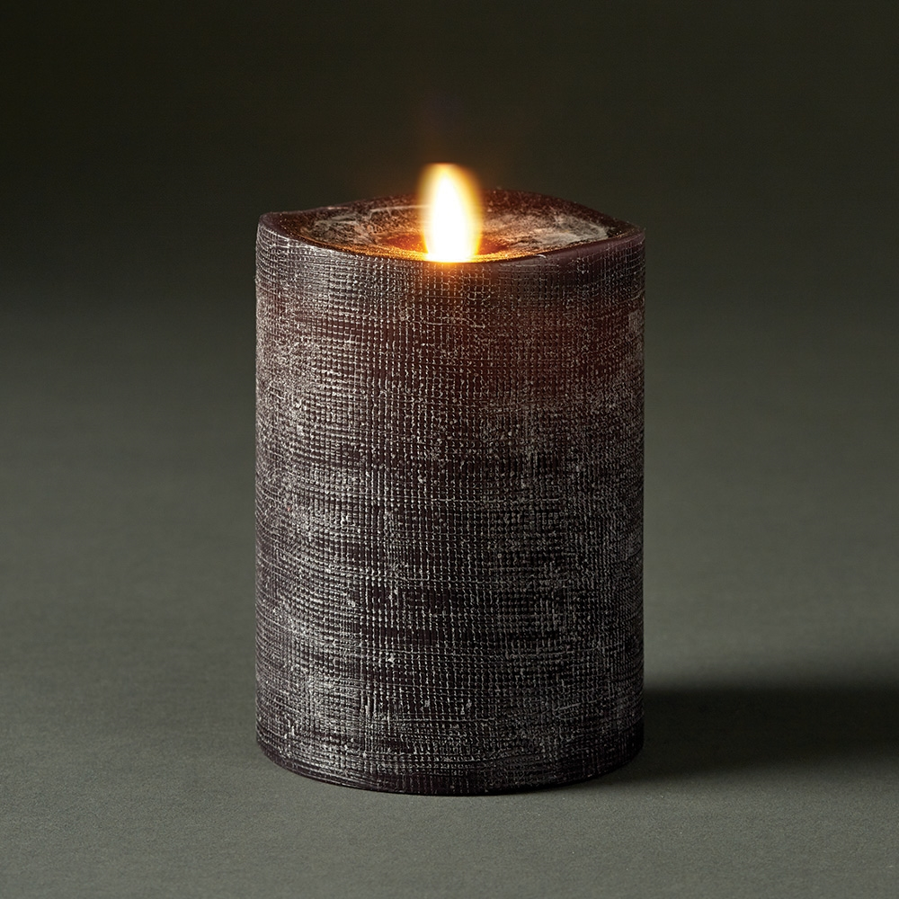 LightLi By Liown   Moving Flame   Flameless LED Candle   Linen Charcoal Wax    Bluetooth App Ready   Remote Ready ...