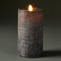 "LightLi by Liown - Moving Flame - Flameless LED Candle - Linen Charcoal Wax - Bluetooth App Ready - Remote Ready - 3.5"" x 7"""