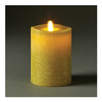 "LightLi by Liown - Moving Flame - Flameless LED Candle - Linen Moss Wax - Bluetooth App Ready - Remote Ready - 3.5"" x 5"""