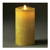 "LightLi by Liown - Moving Flame - Flameless LED Candle - Linen Moss Wax - Bluetooth App Ready - Remote Ready - 3.5"" x 7"""