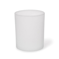 "Tealight Candle Cup Holder - Frosted Glass 2.4"" x 2.9"""