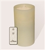 "AquaFlame - Flameless LED Candle Fountain - Ivory Wax - Fresco Finish - 4.2"" x 7.8"" - Remote Control"