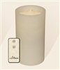 "AquaFlame - Flameless LED Candle Fountain - White Wax - Fresco Finish - 4.2"" x 7.8"" - Remote Control"