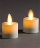 LightLi by Liown - Moving Flame - Flameless LED Candles - Pair of 1.5-Inch x 2.0-Inch Tealights - Ivory ABS Plastic - Remote Ready