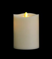 "Matrixflame - Flickering Digital Flameless LED Candle - Indoor - Vanilla Scented - Ivory Wax - Remote Ready - 3.5"" x 5"""