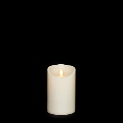 "Liown - Moving Flame - Flameless LED Candle - Indoor - Ivory Vanilla Scented Wax - Remote Ready - 3.5"" x 5"""
