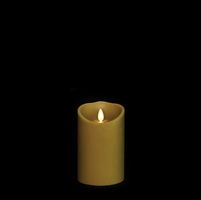 "Liown - Moving Flame - Flameless LED Candle - Indoor - Sage Wax - Forest Scented - Remote Ready - 3.5"" x 5"""