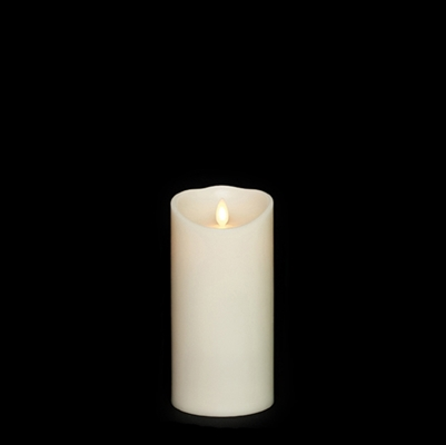 "Liown - Moving Flame - Flameless LED Candle - Indoor - Ivory Vanilla Scented Wax - Remote Ready - 3.5"" x 7"""