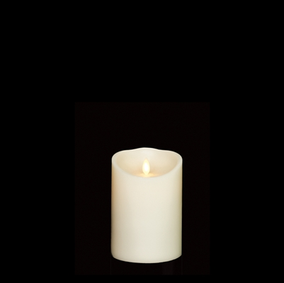 "Liown - Moving Flame - Flameless LED Candle - Indoor - Ivory Unscented Wax - Remote Ready - 4"" x 5"""