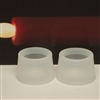 Taper Candle Cots - Pair - Frosted Clear Silicon Rubber
