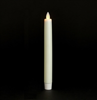 "Mystique - Flameless LED Taper Candle - Indoor - Wax Coated - Ivory - 7/8"" x 8"""