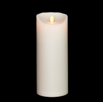 "Liown - Moving Flame - Flameless LED Candle - Outdoor - Ivory ABS Plastic - Unscented - Remote Ready - 3.5"" x 9"""