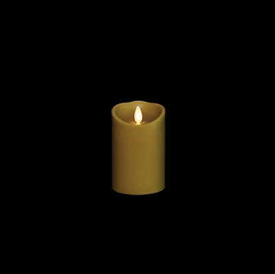 "Liown - Moving Flame - Flameless LED Candle - Indoor - Sage Wax - Forest Scented - Remote Ready - 3"" x 4"""
