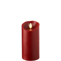 "Liown - Moving Flame - Flameless LED Candle - Indoor - Red Wax - Cinnamon Scented - Remote Ready - 3"" x 6"""