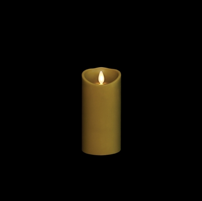 "Liown - Moving Flame - Flameless LED Candle - Indoor - Sage Wax - Forest Scented - Remote Ready - 3"" x 6"""