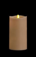 "Matrixflame - Flickering Digital Flameless LED Candle - Indoor - Autumn Wood Scented - Sand Colored Wax - Remote Ready - 3.5"" x 7"""