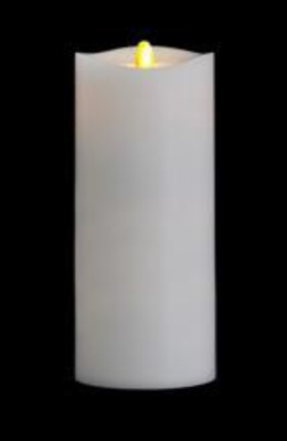 "Matrixflame - Flickering Digital Flameless LED Candle - Indoor - Unscented White Wax - Remote Ready - 3.5"" x 9"""