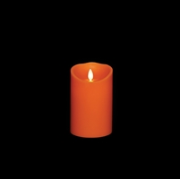 "Liown - Moving Flame - Flameless LED Candle - Indoor - Orange Wax - Pumpkin Spice Scented - Remote Ready - 3.5"" x 5"""