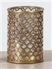 "The Light Garden - FlameWave Hurricane Lantern Housing - Metal and Glass - ""Moroccan"""