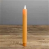 "Mystique - Flameless LED Taper Candle - Indoor - Wax Coated - Harvest Orange - 7/8"" x 8"""