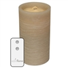 "AquaFlame - Flameless LED Candle Fountain - Sand Colored Wax - Fresco Finish - 4.2"" x 7.8"" - Remote Control"