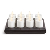 Luminara - 12 x Rechargeable Flameless LED Tealights - Ivory ABS - Charging Base - Remote Capable