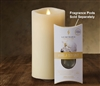 "Luminara - Fragrance Diffusing Moving Flame LED Candle - Indoor - Ivory Wax - Remote Ready - 3.75"" x 7"""
