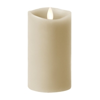 "Luminara - 360-Degree Flameless LED Candle - Indoor - Unscented Stone Grey Wax - Remote Ready - 3"" x 4"""