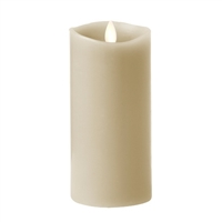 "Luminara - 360-Degree Flameless LED Candle - Indoor - Unscented Stone Grey Wax - Remote Ready - 3"" x 6"""