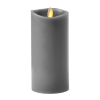 "Luminara - 360-Degree Flameless LED Candle - Indoor - Unscented Gravel Grey Wax - Remote Ready - 3"" x 6"""