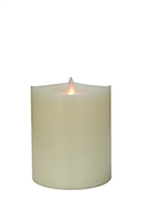 "Mystique 360-Degrees - Flameless LED Candle - Indoor - Wax - Ivory - Remote-Ready - 4"" x 4.5"""