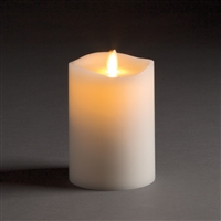 "LightLi by Liown - Moving Flame - Flameless LED Smart Candle - Ivory Wax - Remote Ready - Bluetooth App Ready - 3.5"" x 5"""