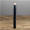 "Mystique - Flameless LED Taper Candle - Indoor - Wax Coated - Black - 7/8"" x 8"""