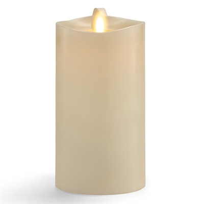 "Matchless - Moving Flame LED Candle - Indoor - Wax - Ivory - Vanilla Honey Scent - Remote Ready - 3"" x 6.5"""