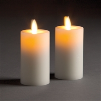 LightLi by Liown - Moving Flame - Flameless LED Candles - Pair of 2.0-Inch x 4.0-Inch Votives - Ivory Wax - Remote Ready
