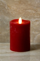 "LightLi by Liown - Moving Flame - Flameless LED Smart Candle - Chalky Red Wax - Remote Ready - Betooth App Ready - 3.5"" x 5"""