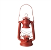 "Liown - Flameless LED Oil Lantern - Distressed Red Metal - 4.5"" x 6"" x 10"" Tall"