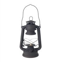 "Liown - Flameless LED Oil Lantern - Black Painted Metal - 4.5"" x 6"" x 10"" Tall"