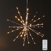 "RAZ Imports - 18"" Silver Starburst with 80 Warm White LED Lights and Remote Control"