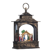 "RAZ Imports - 11"" Nativity Lighted Water Lantern"