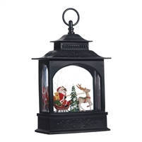 "RAZ Imports - 11"" Santa in Sleigh Lighted Water Lantern"