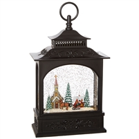 "RAZ Imports - 11"" Town Scene Lighted Water Lantern"