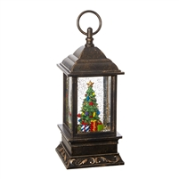 "RAZ Imports - 9.5"" Christmas Tree Lighted Water Lantern"