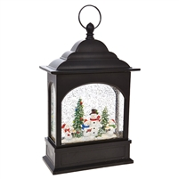 "RAZ Imports - 11"" Snowman Caroler Lighted Water Lantern"