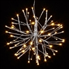 "RAZ Imports - 12"" Silver Starburst with 72 Warm White LED Lights and 8-Hour Timer"