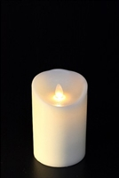 "Avalon - Flameless LED Candle - Indoor - Unscented Ivory Wax - Remote Ready - 3"" x 4"""