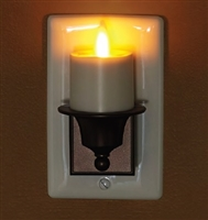 Avalon Moving Flame - Automatic Flameless LED Tealight Plug-In Night Light - Indoor - Ivory & Brown ABS