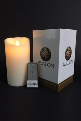 "Avalon - Flameless LED Candle - Premium Gift Packaging With Remote - Indoor - Fresh Scent - Frosted Ivory Colored Wax - 4"" x 7"""