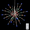 "RAZ Imports - 18"" Silver Starburst with 80 Multi-Colored LED Lights and Remote Control"