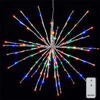 "RAZ Imports - 23"" Silver Starburst with 150 Multi-Colored LED Lights and Remote Control"